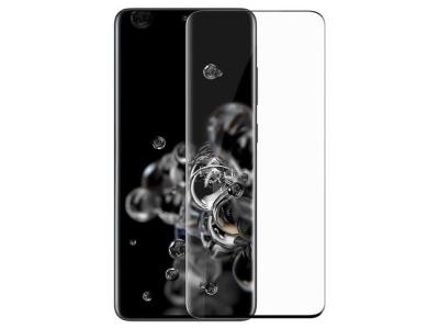 Стъклен Протектор Full Glue 5D за Samsung Galaxy S20 Plus, Черен