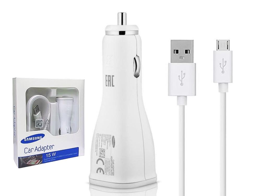 Оригинално зарядно 12V 2A Samsung EP-LN915U Fast Charger + ECB-DU4AWE Micro USB Cable - White (EU Blister)