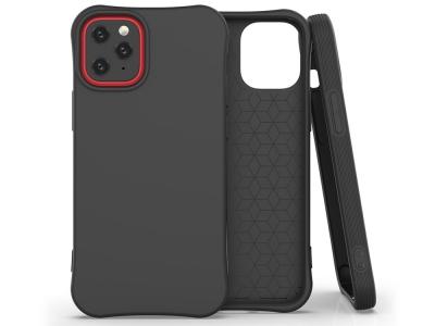 Силиконов гръб Matte за iPhone 12, Черен