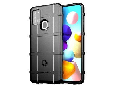 Удароустойчив гръб Grid за Samsung Galaxy A21s, Черен