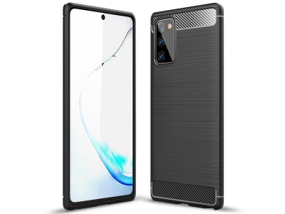 Силиконов гръб Carbon за Samsung Galaxy Note 20/Note 20 5G, Черен