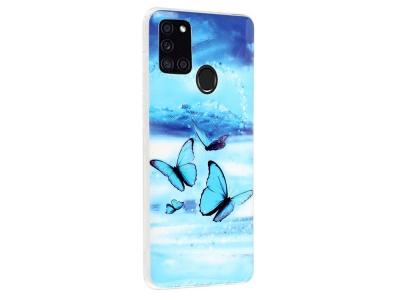 Силиконов Гръб за Samsung Galaxy A21s, Синя пеперуда