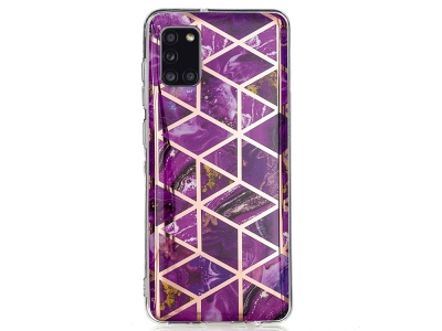 Силиконов Гръб Marble Skin за Samsung Galaxy A31, Розов