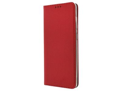 Калъф тефтер Smart Book за Samsung Galaxy A21S, Червен