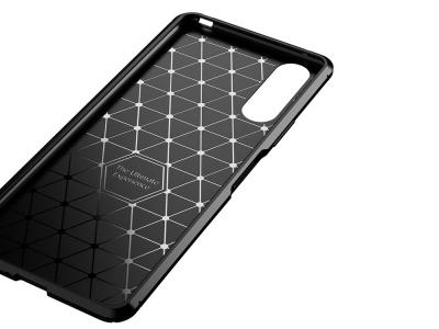 Силиконов гръб Beetle Carbon за Sony Xperia 10 II, Черен