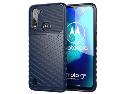 Силиконов гръб Twill Skin за Motorola Moto G8 Power Lite, Син