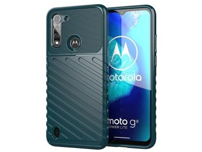 Силиконов гръб Twill Skin за Motorola Moto G8 Power Lite, Зелен