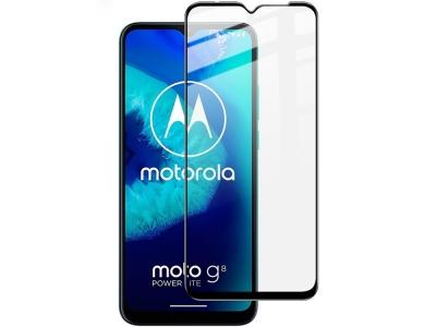 Стъклен Протектор IMAK Pro+ Full за Motorola Moto G8 Power Lite, Черен