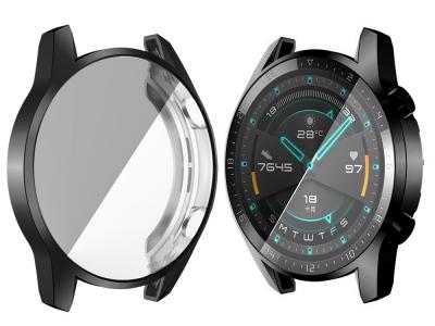 Силиконов Протектор за  смарт часовник Huawei Watch GT 2 46mm, Черен