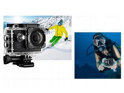 Спортна екшън камера 1080p, Черен