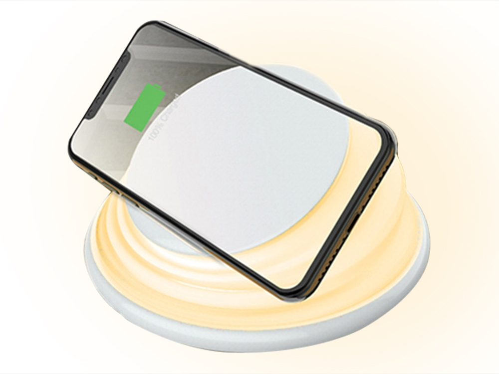 Wireless Charger QI-113-A (5W) LED - White