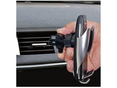 Поставка за кола и безжично зарядно QI-221 Sensor / Induction (10W) Black