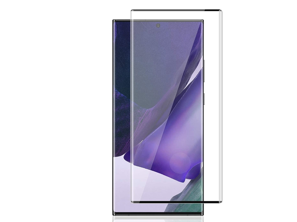 Стъклен Протектор Full Glue 5D за Samsung Galaxy Note 20 Ultra (with hole), Черен
