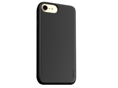 Силиконов калъф IPAKY Matte за iPhone 7 / 8 / SE (2020), Черен