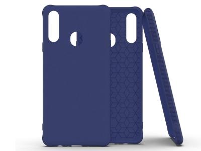 Силиконов Гръб Matte за Samsung Galaxy A20s, Тъмно син