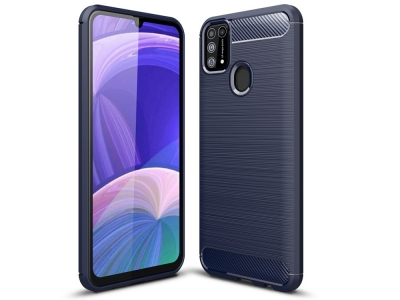 Силиконов Калъф Carbon за Samsung Galaxy M31, Син