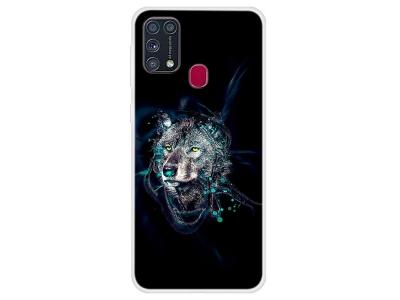 Силиконов калъф за Samsung Galaxy M31, Вълк