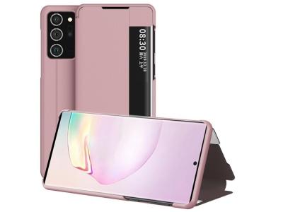 Калъф Тефтер View Flip за Samsung Galaxy Note 20 Ultra/Note 20 Ultra 5G, Розов
