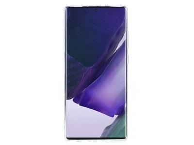 Удароустойчив калъф 3D Butterfly Rhinestone за Samsung Galaxy Note 20/Note 20 5G, Бял