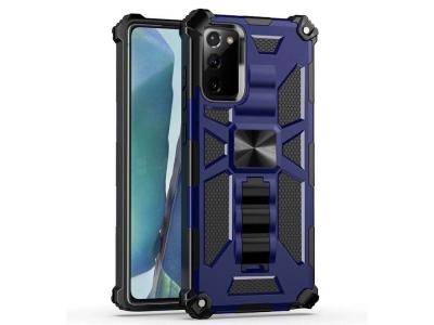 Удароустойчив Гръб Kickstand Armor - Samsung Galaxy Note 20/Note 20 5G - Blue