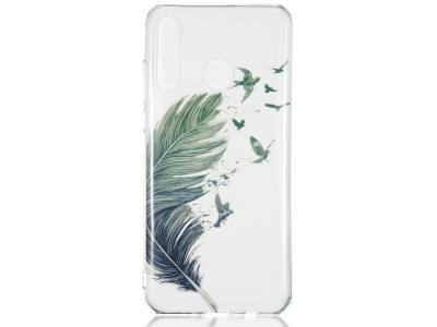 Силиконов калъф за Huawei P30 Lite/nova 4e, Перо и птици