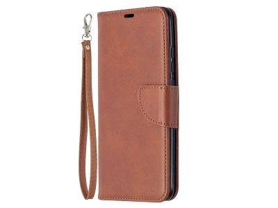 Калъф Тефтер Leather за Xiaomi Redmi 9C, Кафе