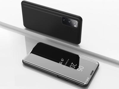 Калъф Тефтер View Window Mirror за Samsung Galaxy S20 FE/S20 Fan Edition/S20 FE 5G/S20 Lite, Черен