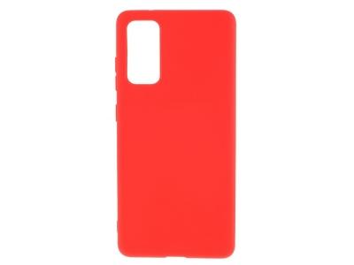 Силиконов калъф Matte за Samsung Galaxy S20 FE/S20 Fan Edition/S20 FE 5G/S20 Fan Edition 5G, Червен