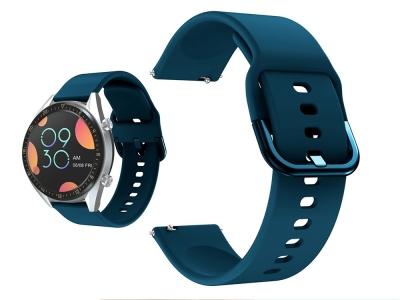 Силиконова каишка 22mm - Huawei Watch GT / Watch GT2 / Watch Active - Dark Blue