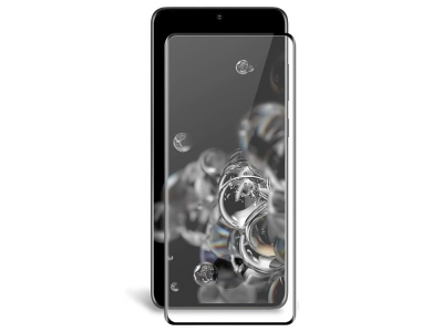 Стъклен протектор 5D Full Glue за Samsung Galaxy S20 Ultra, Черен