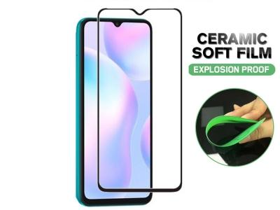 Стъклен Протектор Full Glue Hard Ceramic за Xiaomi Redmi 9A / Xiaomi Redmi 9C, Черен