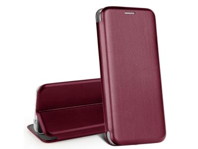 Калъф Тефтер ELEGANCE за iPhone 12 / 12 Pro, Бургундски цвят
