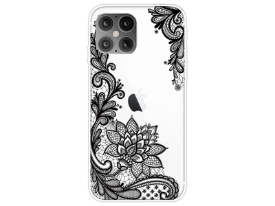 Силиконов калъф за iPhone 12 Pro Max 6.7-inch, Дантелени цветя