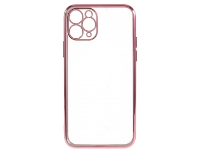Силиконов гръб Electroplating за iPhone 12 Pro Max, Розов