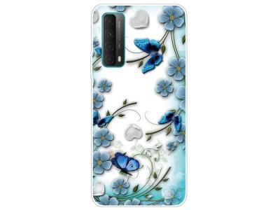 Силиконов калъф за Huawei P smart 2021 / Huawei Y7a, Цветя и пеперуди