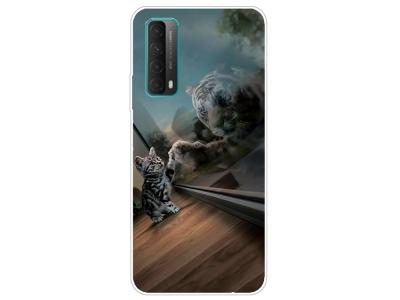 Силиконов калъф за Huawei P smart 2021 / Huawei Y7a, Коте и Тигър