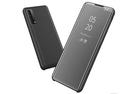 Калъф Тефтер View Window Mirror за Huawei P smart 2021/Y7a, Черен