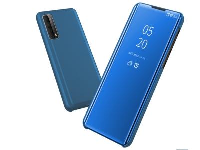 Калъф Тефтер View Window Mirror за Huawei P smart 2021/Y7a, Светло син