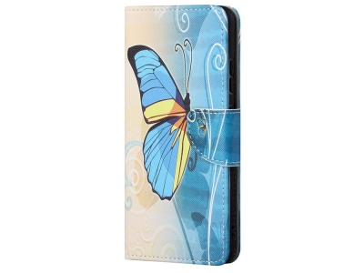 Калъф Тефтер за Huawei P smart 2021/Y7a, Синя Пеперуда