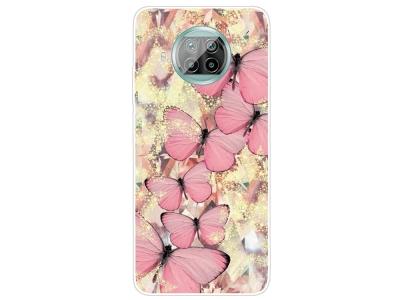 Силиконов калъф за Xiaomi Mi 10T Lite 5G, Розови пеперуди