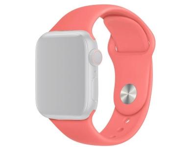 Силиконова каишка за Apple Watch Series 1/2/3 38mm / Series 4/5/6/SE 40mm, Розов