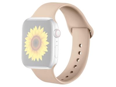 Силиконова каишка за Apple Watch Series 1/2/3 38mm / Series 4/5/6/SE 40mm, Бежов