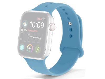 Силиконова каишка за Apple Watch Series 1/2/3 38mm / Series 4/5/6/SE 40mm, Син