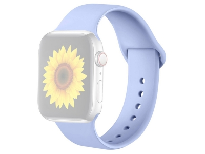 Силиконова каишка за Apple Watch Series 1/2/3 42mm / Series 4/5/6/SE 44mm, Лилав