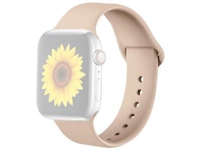 Силиконова каишка за Apple Watch Series 1/2/3 42mm / Series 4/5/6/SE 44mm, Бежов