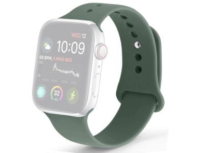 Силиконова каишка за Apple Watch Series 1/2/3 42mm / Series 4/5/6/SE 44mm , Зелен