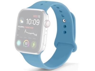 Силиконова каишка за Apple Watch Series 1/2/3 42mm / Series 4/5/6/SE 44mm, Син