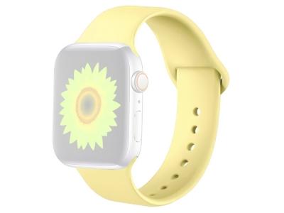 Силиконова каишка за Apple Watch Series 1/2/3 42mm / Series 4/5/6/SE 44mm, Жълт