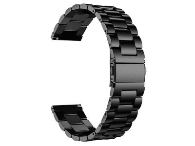 Каишка от неръждаема стомана Stainless за Samsung Galaxy Watch3 45mm, Черен