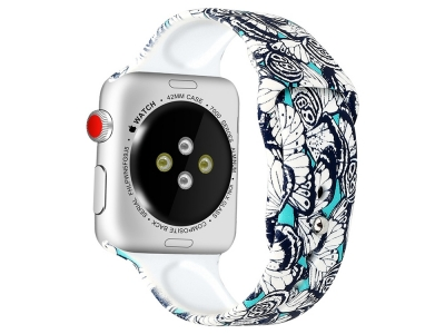 Силиконова каишка за Apple Watch Series 5 4 44mm / Series 3 2 1 42mm - Style E
